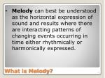 what is melody