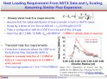 heat loading requirement from nstx data and i p scaling assuming similar flux expansion