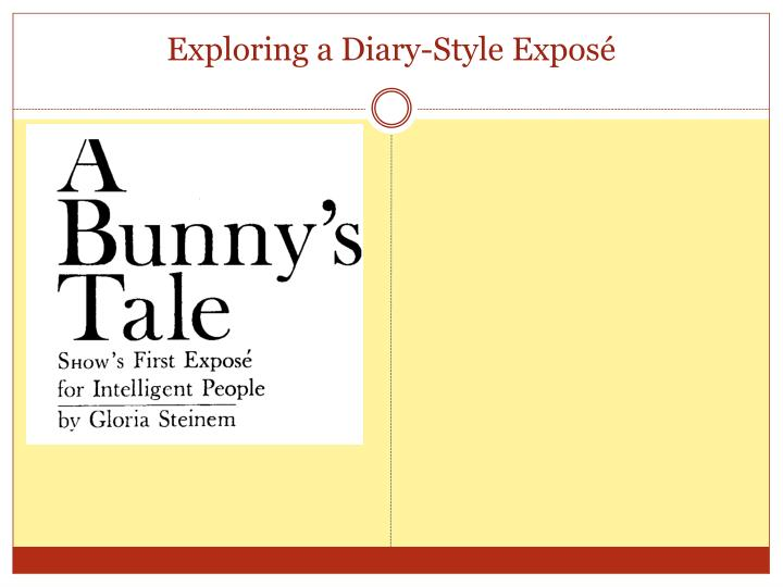 exploring a diary style expos n.