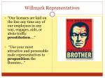 willmark representatives