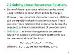 7 2 solving linear recurrence relations