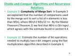 divide and conquer algorithms and recurrence relations6
