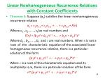 linear nonhomogeneous recurrence relations with constant coefficients4