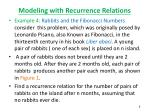 modeling with recurrence relations1