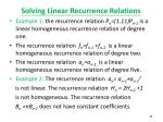 solving linear recurrence relations1