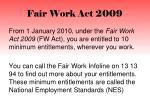fair work act 2009
