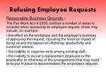 refusing employee requests