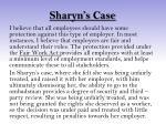 sharyn s case