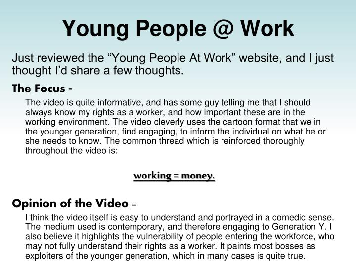 young people @ work n.