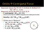 orbits centripetal force