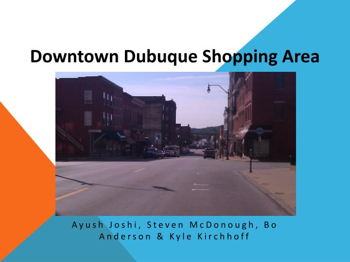 downtown dubuque shopping area n.