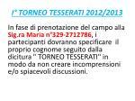 i torneo tesserati 2012 201310