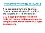 i torneo tesserati 2012 20134