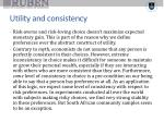 utility and consistency