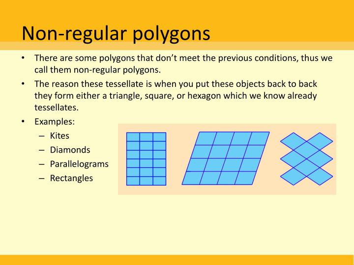 Non-regular polygons