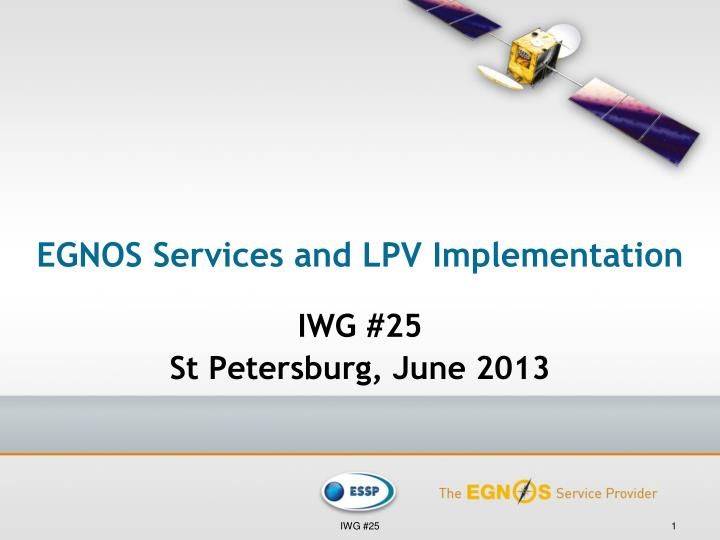 egnos services and lpv implementation n.