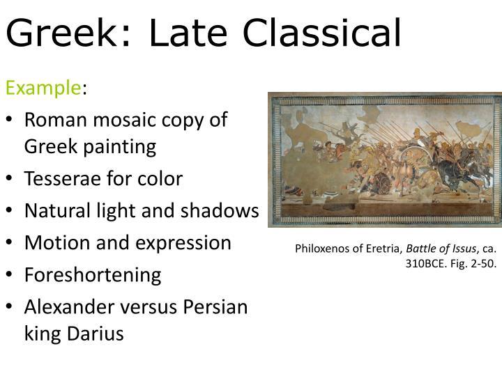 Greek: Late Classical