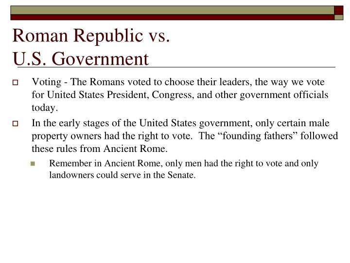roman republic compared to us government