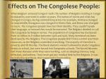 effects on the congolese people