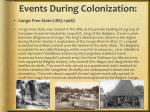 events during colonization