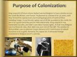 purpose of colonization