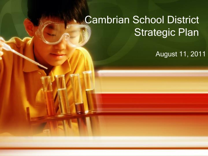 cambrian school district strategic plan n.