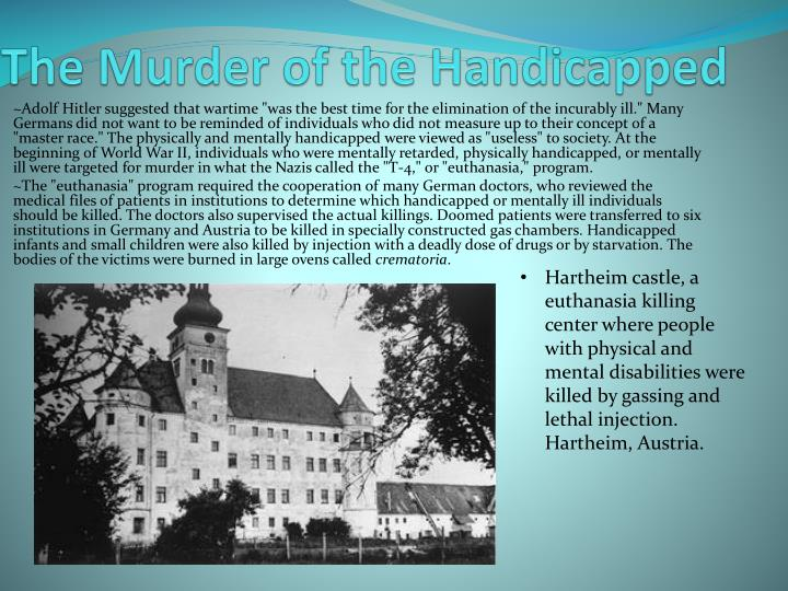 The Murder of the Handicapped