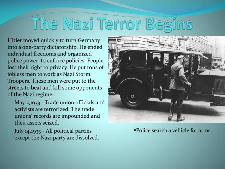 The nazi terror begins