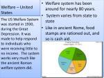 welfare united states