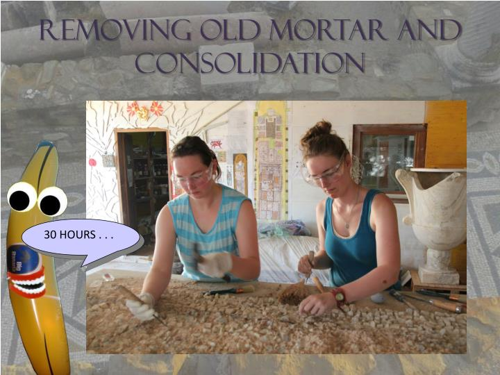 Removing Old Mortar and Consolidation