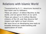 relations with islamic world