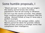 some humble proposals i