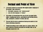 format and point of view