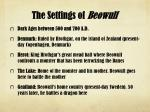 the settings of beowulf