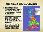 the time place of beowulf