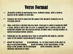 verse format