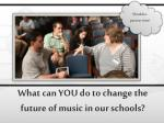 what can you do to change the future of music in our schools