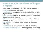 leaders of the church were channels of god s grace for the people