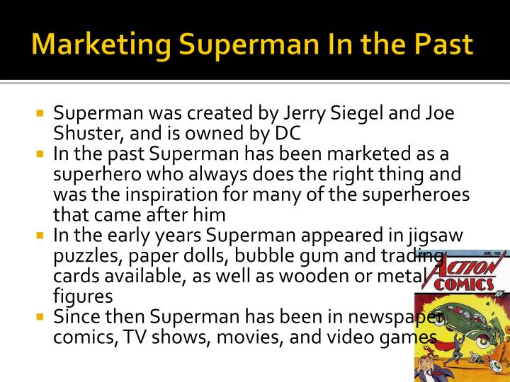 Marketing Superman In the Past