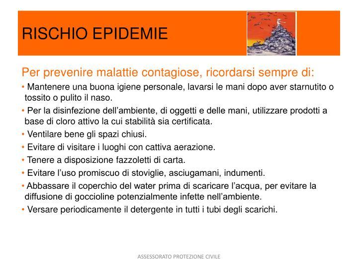 RISCHIO EPIDEMIE
