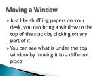 moving a window1
