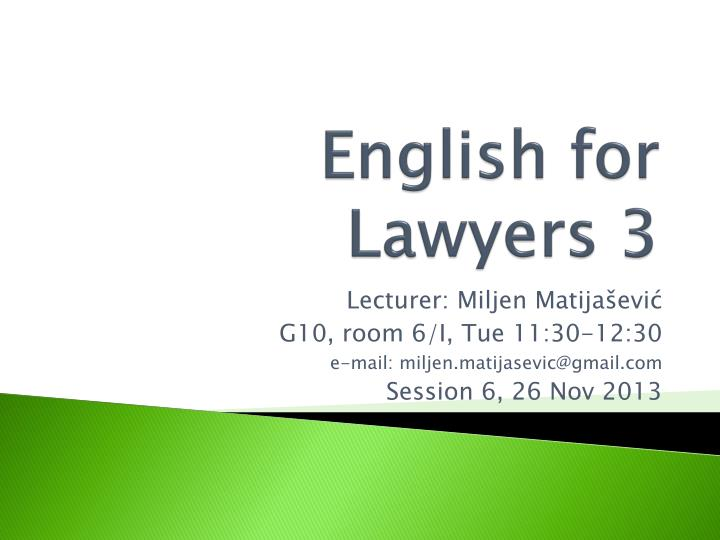 english for lawyers 3 n.