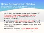 recent developments in statistical systems of gcc countries concluded