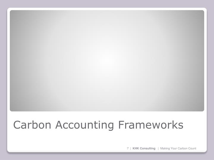 Carbon Accounting Frameworks