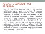 absolute community of property