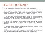 charges upon acp