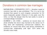 donations in common law marriages