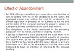 effect of abandonment