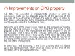 f improvements on cpg property