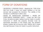 form of donations